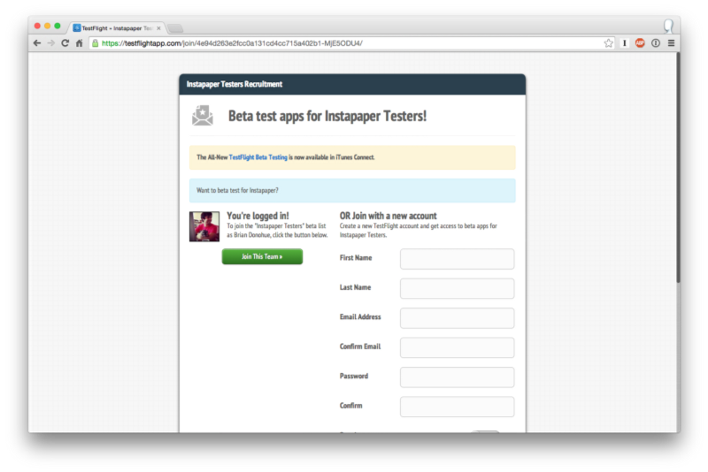 Hacking TestFlight Invites
